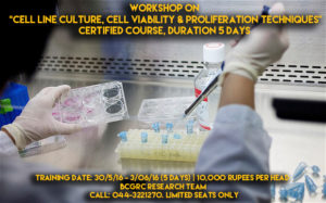 workshop on cell line culture in chennai